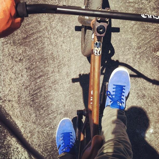 Cruising yesterday. #cultshit #almond #bluedukes #topload