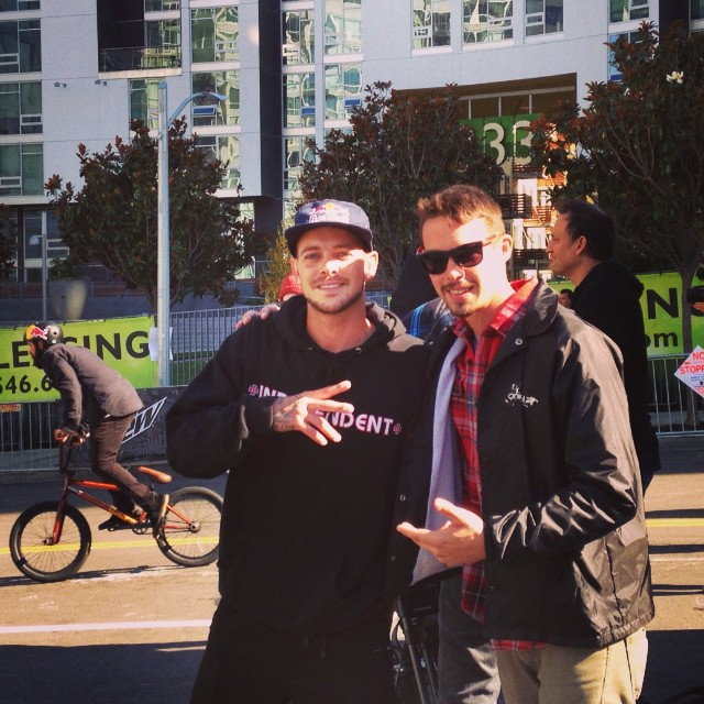 Me and Ryan Sheckler you know