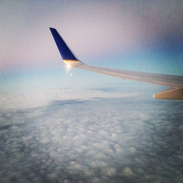 Plane ride home yesterday was rad