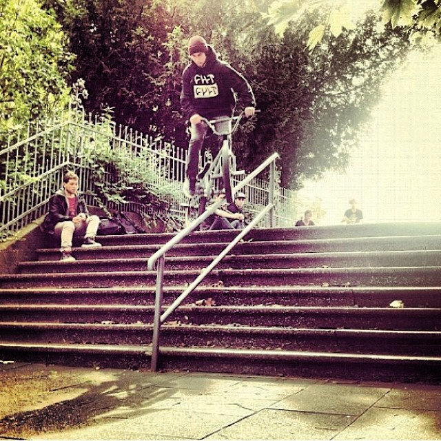 #tbt Crank in Bonn, Germany on an @eclatbmxparts trip.