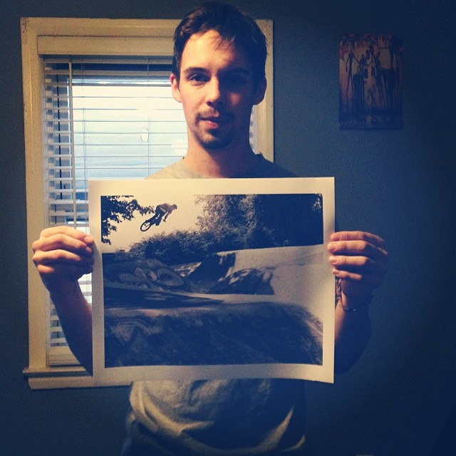 @ohsovisual sent me this amazing print out my 270 attempts at one of the oldest snake runs. #Vancouver #BC @macneilbikes