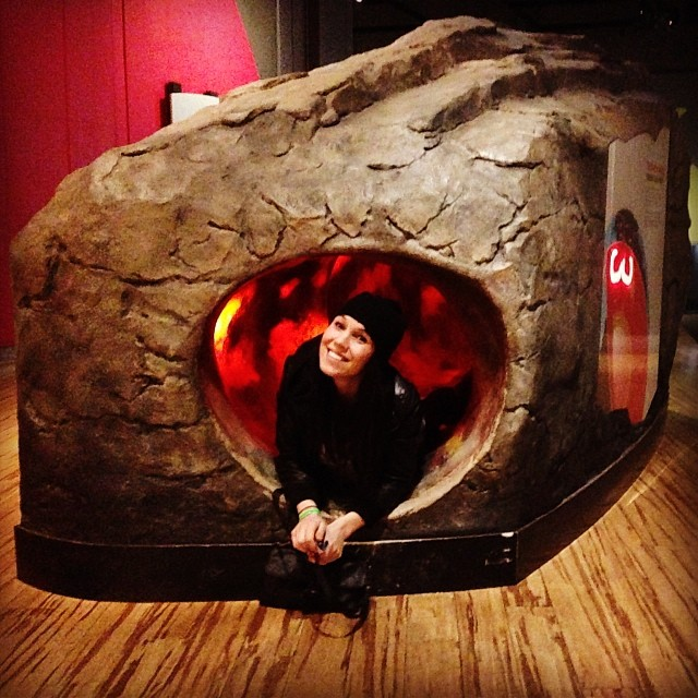 Checked out the Pompeii exhibit and crawled to earths core with @girlsnogood yesterday.