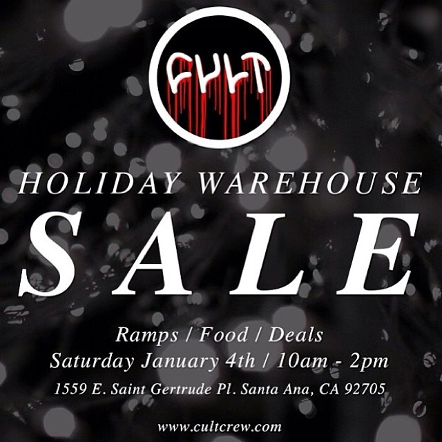 Come out to the @cultshit holiday sale THIS Saturday. #bikes #parts #ramps #food #homies #16geebees