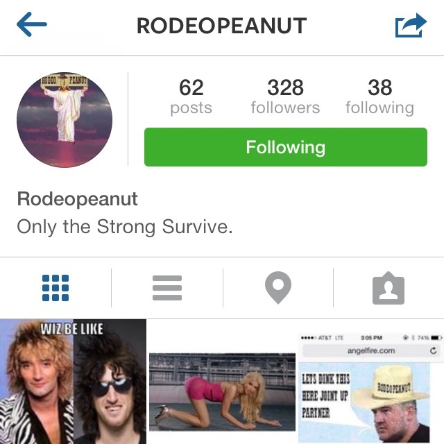 Follow 2014's funniest @rodeopeanut