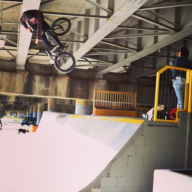 Fun DIY skatepark while rolling around New Orleans today. @fitbikeco photo: @crandallfbm