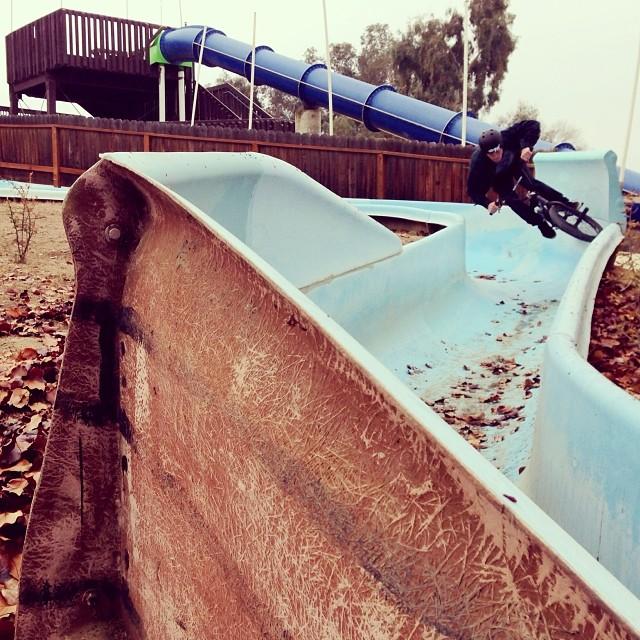 off season water slide session. Photo: @deanshralp