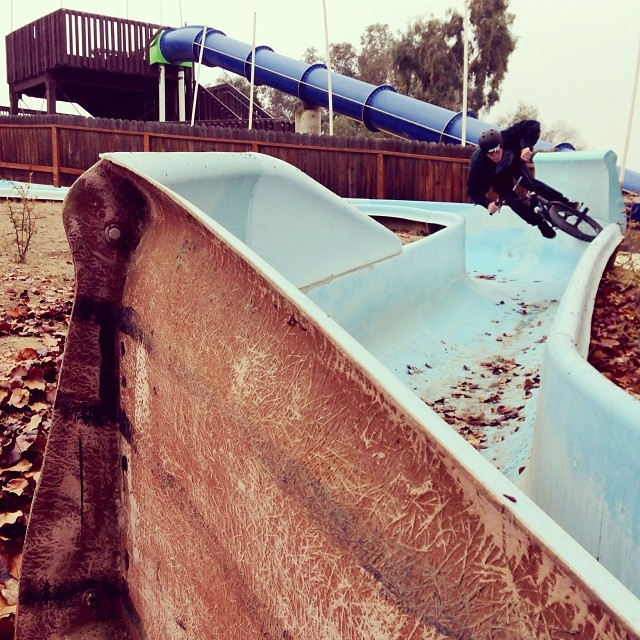 off season water slide session. Photo: @deanshralp