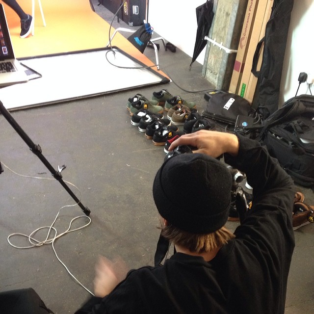 @danieljbenson shooting a brand new #2014lookbook in #London today