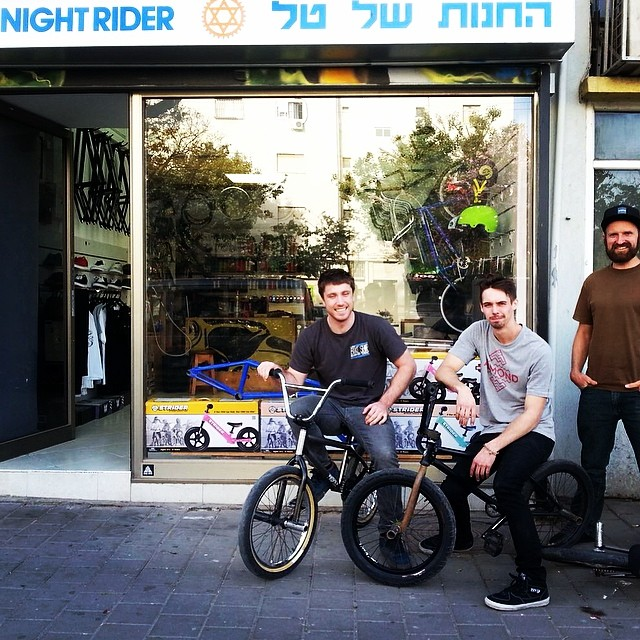 @nightrdr Bmx only shop in Tel Aviv Israel. Owner and photo by Tal @feedmephotos Conall