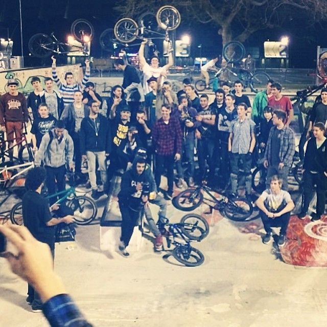 This is a movement. Israel Bmx at it's best. @nightrdr Jam 2014.