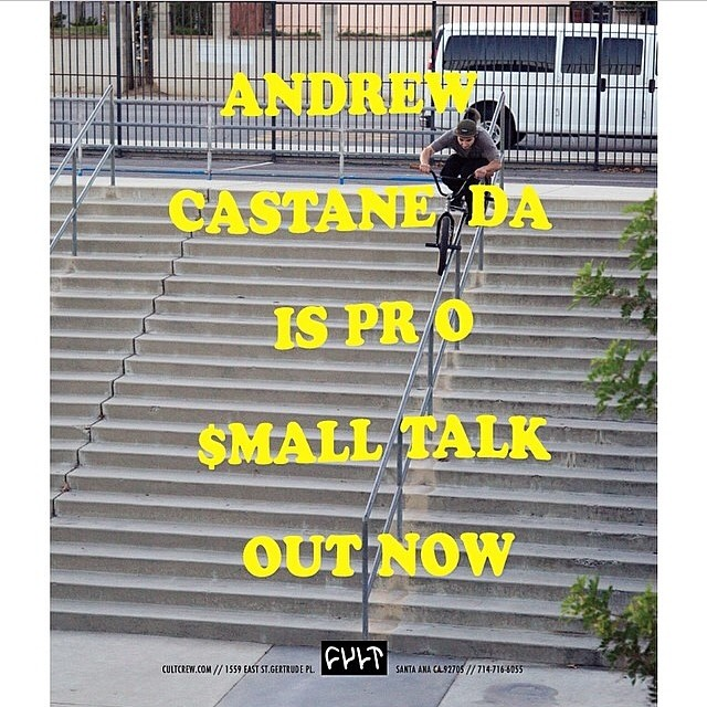 @andrew_cast if y'all didn't know, is pro. He got this sick ad in @ridebmx I shot of him bossing out this massive crook with no problem. Congrats again homie!