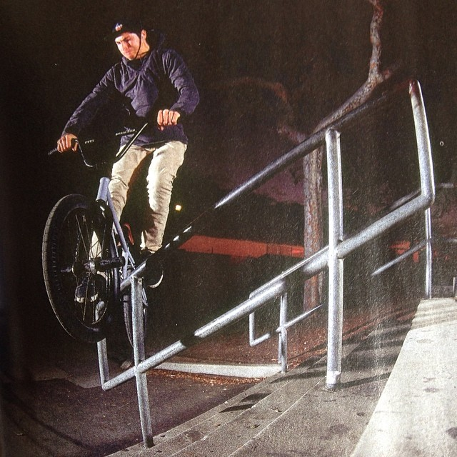 A rare 'IZ' grind as seen in the wild. Photo in the new @ridebmx