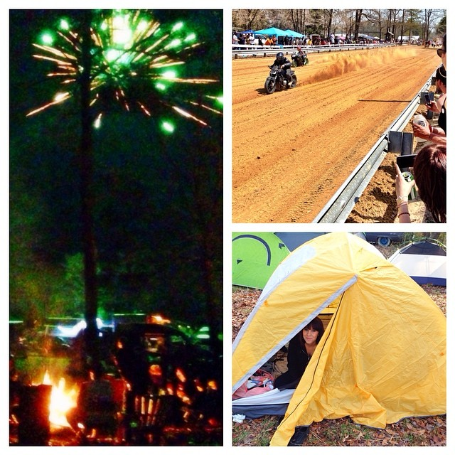 Camp fires, fireworks, friends, beers, drag races, s'mores, hotdogs, tent camping.....this week was a good one!