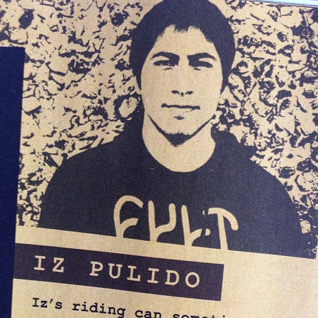 Pick up @ridebmx and read about @iz_pulido the dopest. Shout out to @cultcrew for words of wisdom too.