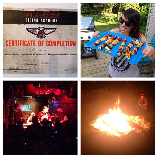 Motorcycles, Kabobs, Pop Punk and Fire, all things that got me stoked over my Memorial Day weekend.