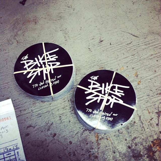 Shop stickers in stock now. Stop in and grab some.