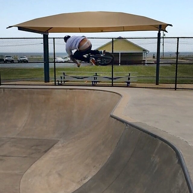 Fun little hip in this bowl. From earlier today
