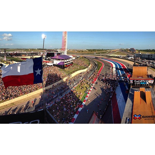 Just watched Bad Religion play and now time for the guys to go in on Mega Ramp! Everything about X-Games Austin has been amazing so far except for the head wind that's kicking up right now.