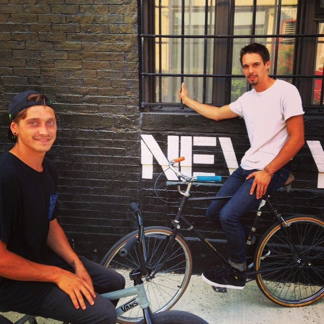 My ride for the day. #Brooklyn @dubbmx @thecomeupbmx @animalbikes