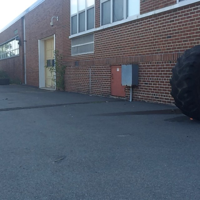 Messing around at a spot yesterday. Tire ride? Haha