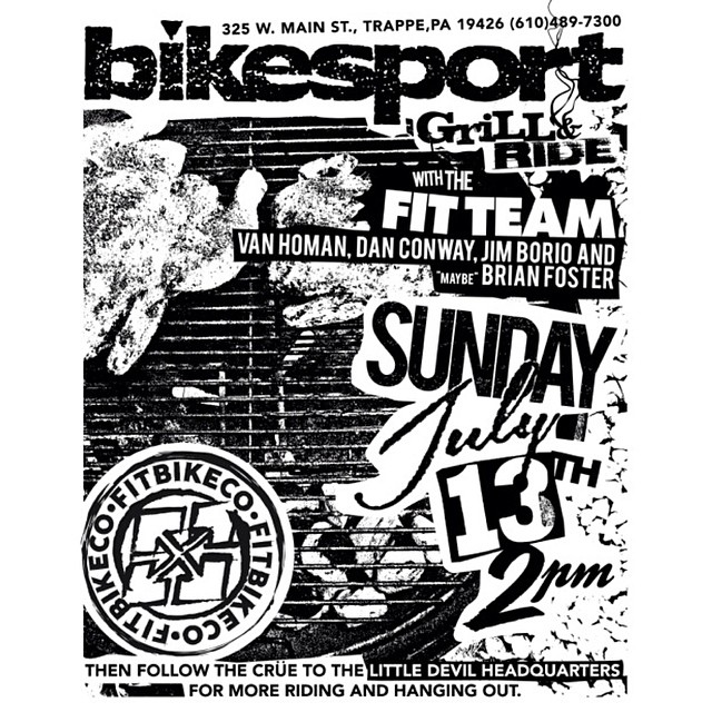 One week from today! Come hangout with the @fitbikeco crew at BikeSport in Trappe PA and then follow us over for more riding at the @littledevilbrand compound!