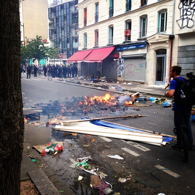Peace to the Middle East. @peteradam trying to make sense of this all. #parisriots #protest #hating