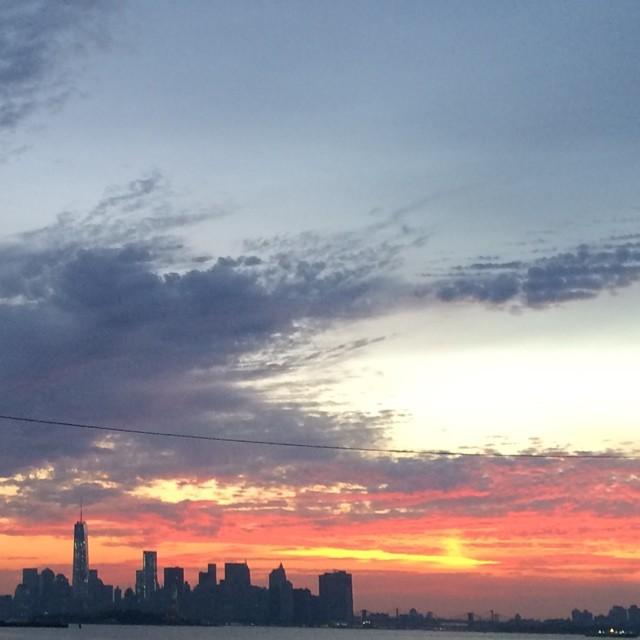 Pretty nice sunrise over the city