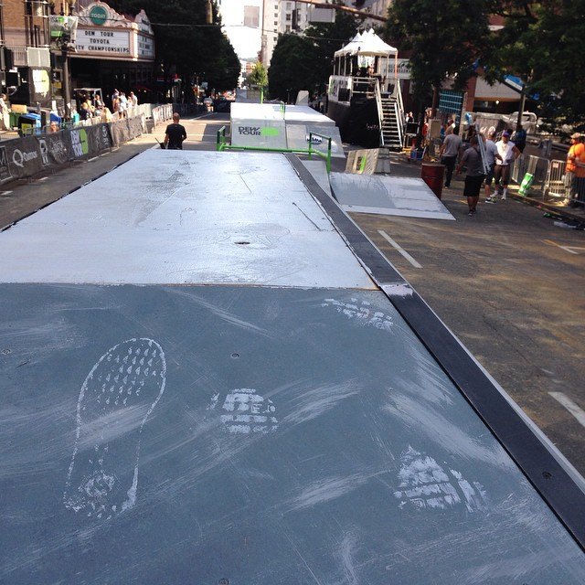 @vandeverhoman leaving the mark of the beast at #dewtour this year in #Portland
