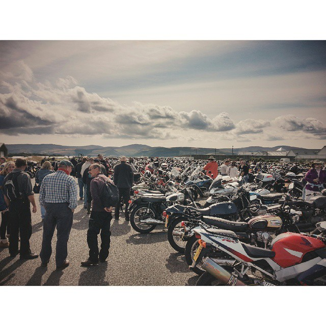 Couple bikes at the festival of jurby. #manx2014 #iomctt2014