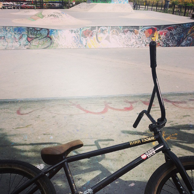 Out on the steed today, getting ready for brighton aint ready next week. @kinkbikes @seventiesdistro