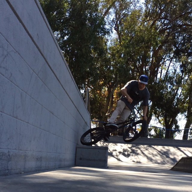 Lil baby wall to tireslide from earlier. #skateparkjibs #cultcrew #éclatbmx #almondfootwear