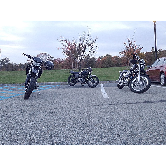 @dbrock87 @zachpitoniak and myself soaking in the sunset today. #blessed #supermoto #kawasaki eagle rock nj