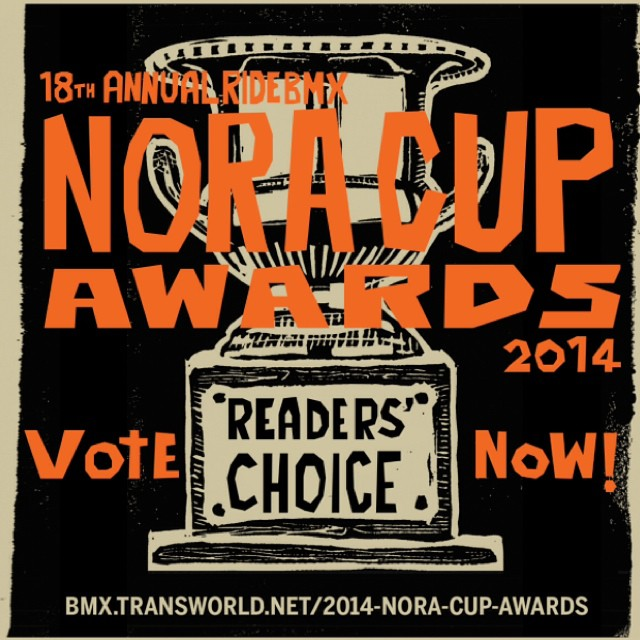 @ridebmx asked me to ask you to go vote for your favorite rider! Click the link in my profile to go vote #readerschoice #noracup