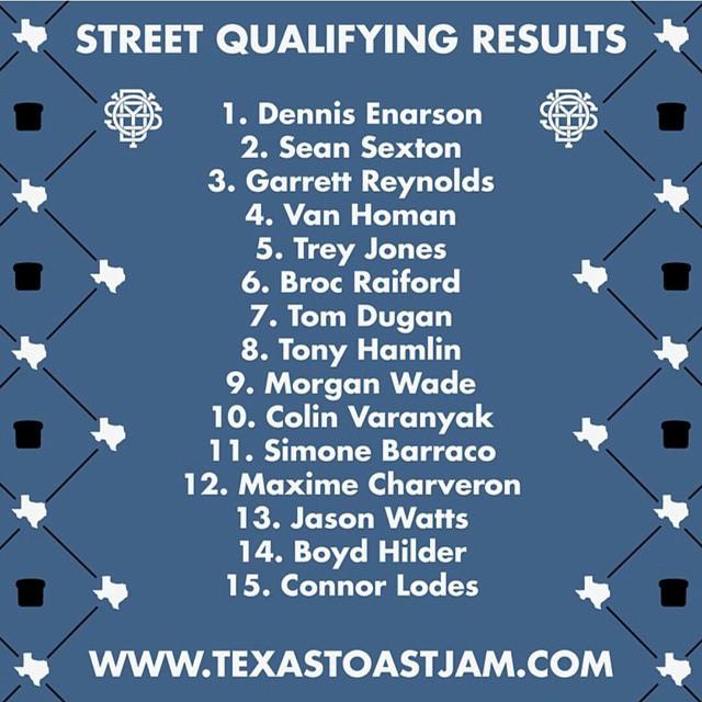 @vandeverhoman qualifing in 4th place for #texastoast finals tomorow! Hell yeah Van!