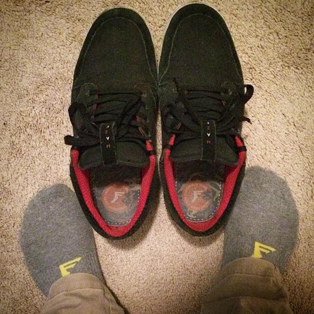 Keeping my feet happy.  @almond_footwear #haze #Fpinsoles #kingfoam #painkillers