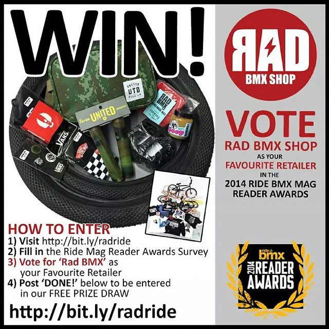 Take two minutes out of your day to support a real rider run and owned bmx shop! @radbmxshop