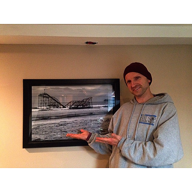 @doleckivisuals showing off his own masterpiece of a photo that's hanging in my basement