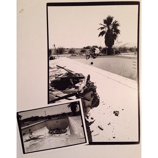Clean and carve with @markrphoto and @mulligan4130 during my first trip to the Salton Sea. We cleaned and rode 5 pools that day but managed to miss the legendary kidney behind the old yacht club. #blackandwhitephotochallenge 2/5