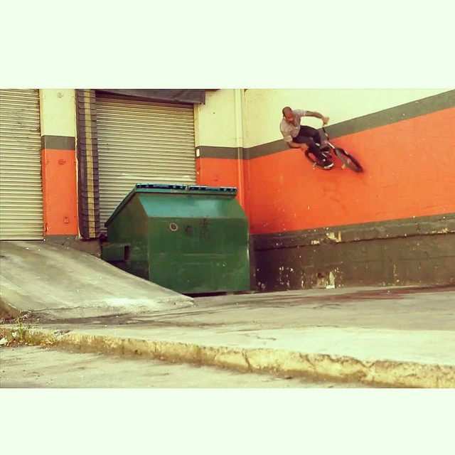 Winters here . So here's me doing a switch wall ride in Miami