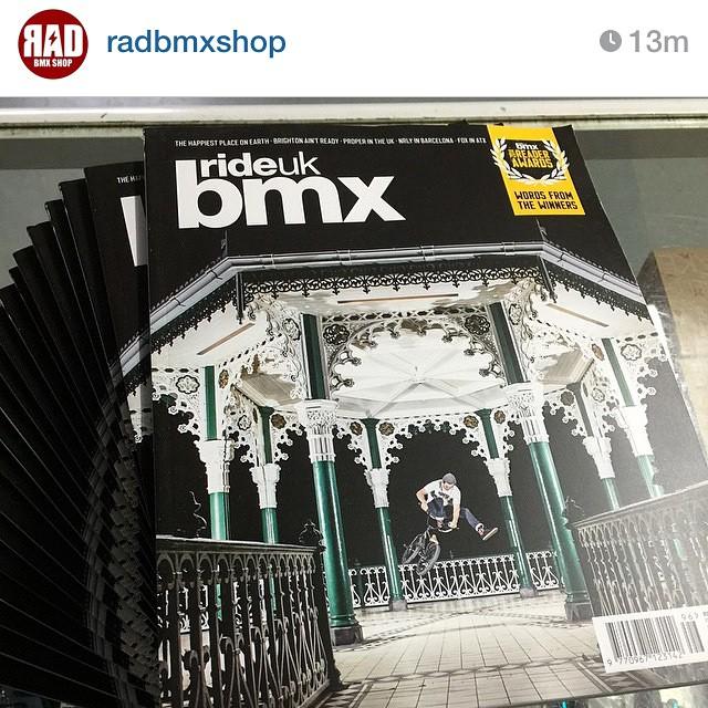 Head over to @radbmxshop and grab a copy of @rideukbmx