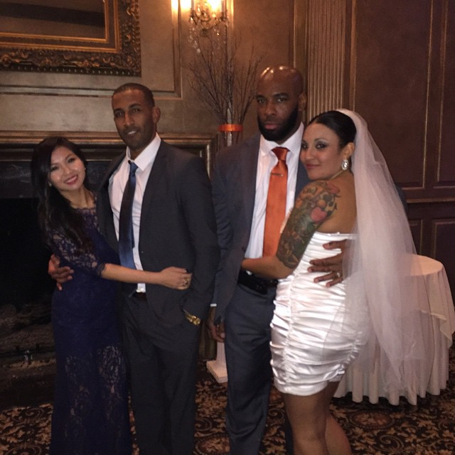 Big sis finally tied the knot.