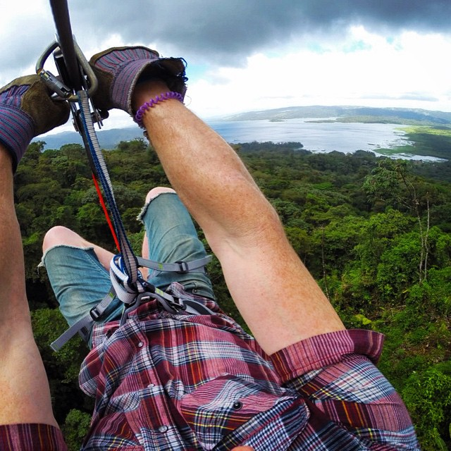 Morning flight over the rain forest, such a fun feeling!