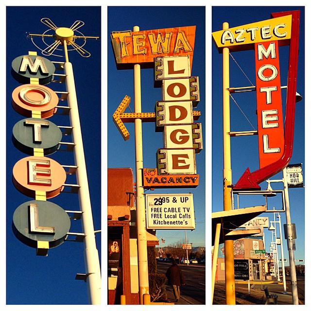 This stretch of historic Route 66 leaves these and many other classic signs intact and in place even as business's change and buildings are demo'd. This isn't the fastest way home but it's definitely more interesting.