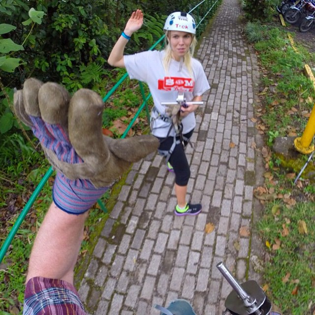 Forgot to turn off the GoPro and it caught this candid moment after zip lining with @girlsnogood last month. Good times and high fives with people I love get me pretty stoked. #wcw