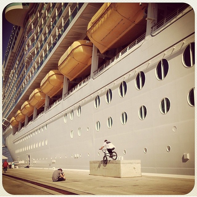 Greatest trip ever? @kinkbikes #justcruising trip last year. Caribbean cruise, the only way to travel with your bmx.