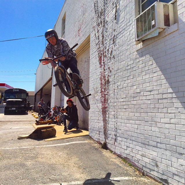 Kicker-wall-bar, Pedal Power parking lot jam. Thanks @latane_coghill and @crandallfbm for the fun.