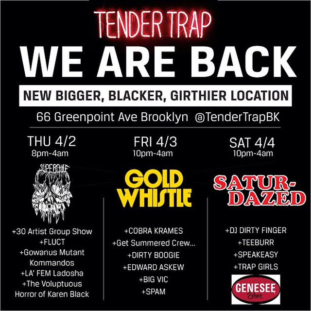 @darrylnau has been hustling to bring back the Tender Trap, if you're anywhere near NYC you should come out and celebrate the relaunch. Congratulations Darryl!