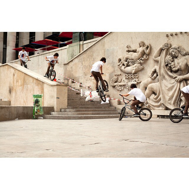 Heres a good old fashion feeble 180 In France from the CULT CREW X DIG CREW - THE FIRST 5 YEARS gallery up on the @digbmx site. @andrewgwhite #cultcrew #digbmx #tbt